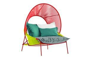 The Asian Traveller hooded armchair by designer Stephen Burks.